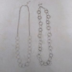 NWOT Silver Fashion Necklaces